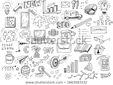 hand draw doodle business pattern stock photo © netkov1
