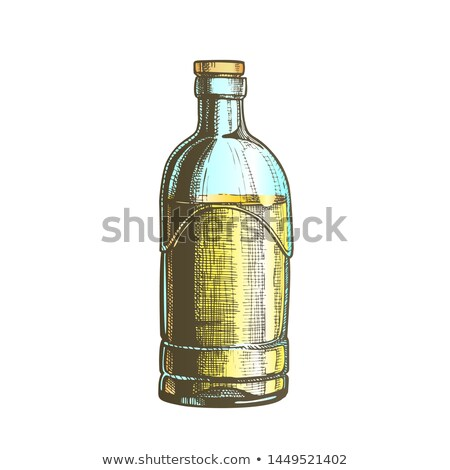 Color Closed Standard Drink Tequila Glass Bottle Vector Stock photo © pikepicture