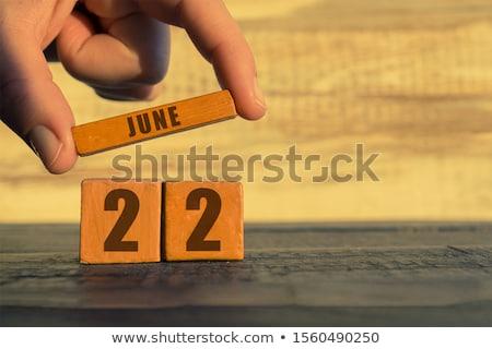 Cubos calendario rojo blanco icono veinte Foto stock © Oakozhan