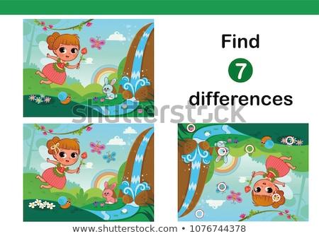 Stockfoto: Weinig · zeemeermin · taak · vinden · verschil · onderwater