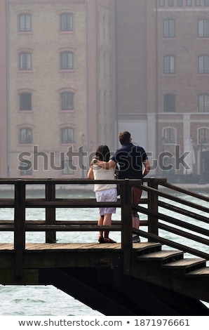 Couple Standing Together Looking At Venice Street Stock photo © AndreyPopov