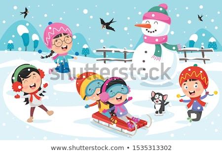 幸せ · 子供 · 冬 · 幼年 - ストックフォト © dolgachov