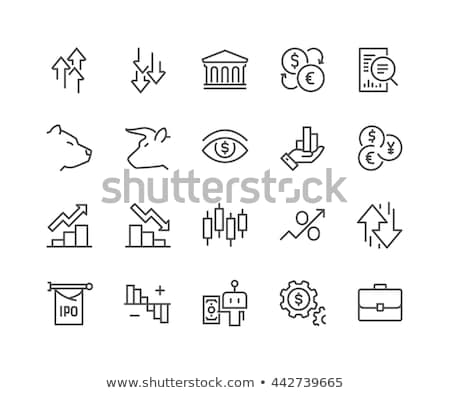 stock exchange icons set stock photo © netkov1