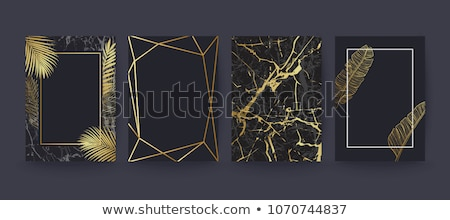 abstract marble style black and gold texture background Stock photo © SArts