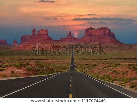 Route 66 asfalt yol Amerika Birleşik Devletleri Amerika yolculuk Stok fotoğraf © dolgachov
