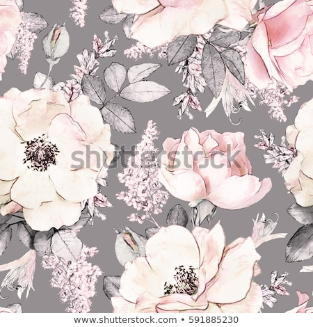 Papier abstract roze bloem vector eps 10 Stockfoto © rwgusev