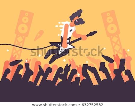 Rock guitariste concert musique stade Photo stock © jossdiim