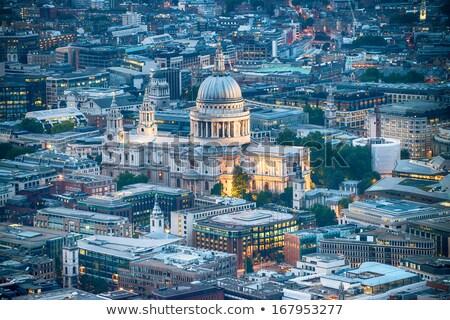 antenne · Londen · stad · kathedraal · nacht · godsdienst - stockfoto © vichie81