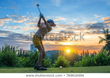 Golfer pitching Stock photo © lichtmeister