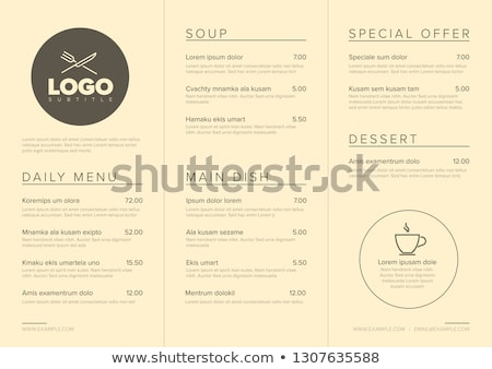Modern minimalistic restaurant menu template Stock photo © orson