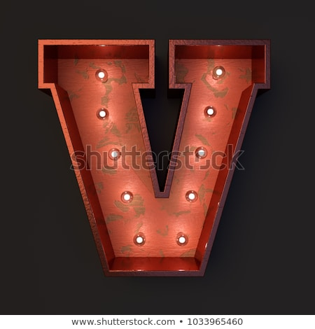 Retro movie theater marquee illuminated with old light bulbs - v Stock photo © Winner