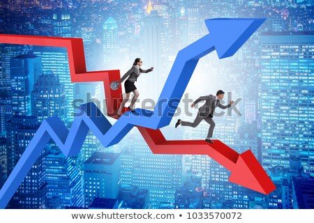 The business concept of both crisis and recovery Stock photo © Elnur