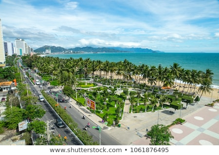 Panorama stad Vietnam panoramisch dag Stockfoto © galitskaya