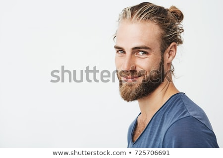 close up of attractive young man looking seductive stock photo © lichtmeister