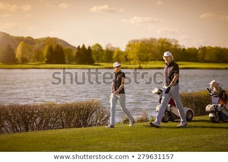 Due senior golfista giocare golf Foto d'archivio © lichtmeister