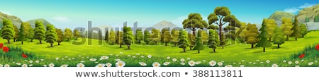 Environment Day banner of green nature landscape Stock photo © cienpies