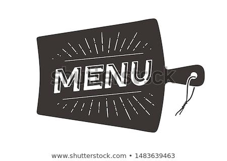 Chefs menu parede decoração cartaz Foto stock © FoxysGraphic