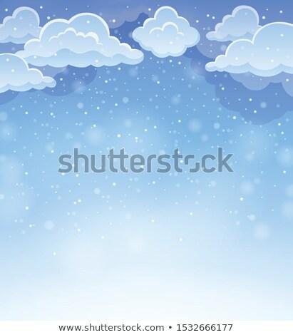 Winter sky theme background 4 Stock photo © clairev