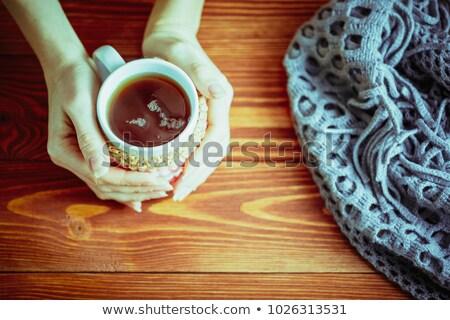 мнение женщины рук кружка горячий напиток Сток-фото © pressmaster