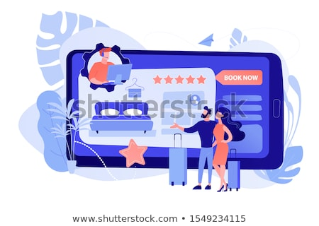 Hotel booking call center concept vector illustration Stock photo © RAStudio