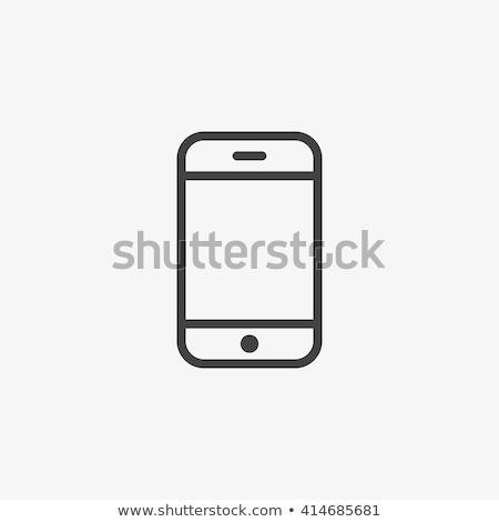 üzenetküldés digitális technológia ikon vektor skicc illusztráció Stock fotó © pikepicture
