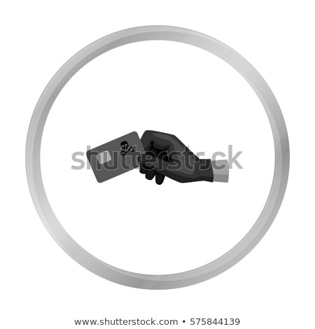 Credit Card Hacking Icon Vector Outline Illustration Stock photo © pikepicture
