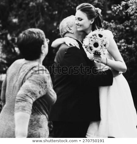Novia padre padres hija boda día Foto stock © robuart