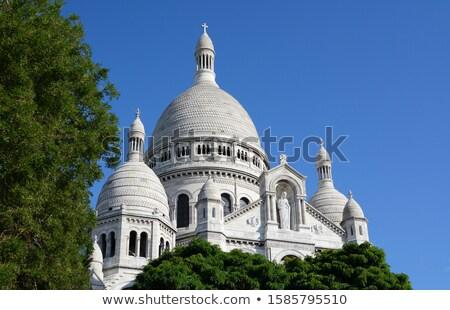 Cúpula basílica París árboles cielo azul Foto stock © sarahdoow