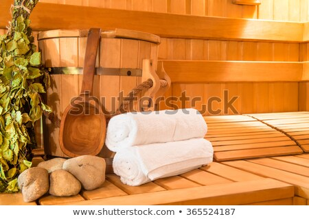 Sauna terleme oda ağaç tıp Stok fotoğraf © nomadsoul1