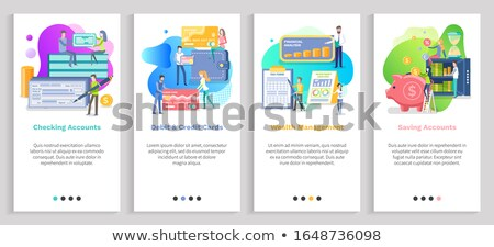 Wealth Management and Checking Accounts Websites Stock photo © robuart