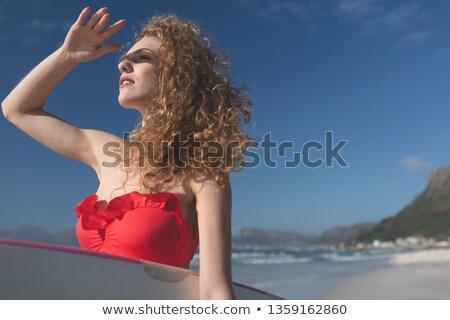 мнение красивой молодые кавказский женщины Сток-фото © wavebreak_media