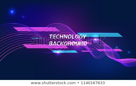 abstract flowing and dynamical elements fusion  vector Stock photo © krustovin
