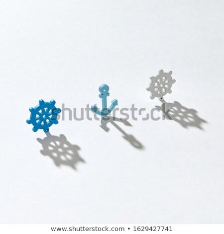 Verticaal stand plastic anker wielen schaduwen Stockfoto © artjazz