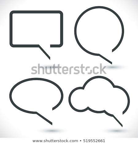 Czarny nowoczesne szablon czat bańki stylu Zdjęcia stock © SArts