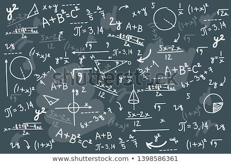 Matemáticas fórmulas símbolos pizarra tiza Foto stock © make