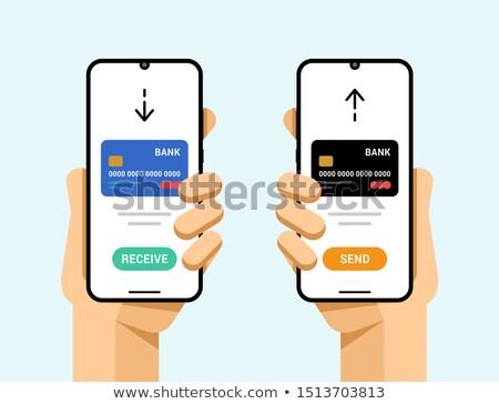 Akıllı telefonlar kredi kartı işlem operasyon göndermek Stok fotoğraf © karetniy