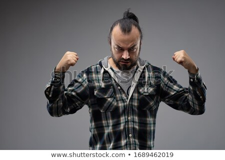 Man showing his strength before fight Stock photo © Giulio_Fornasar