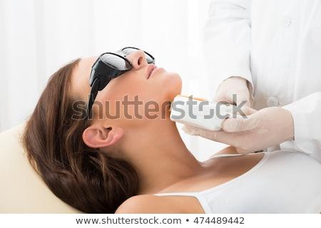 Laser traitement menton cou cheveux enlèvement Photo stock © AndreyPopov