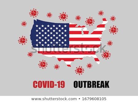 United States Coronavirus Covid-19 Warning Illustration Stock photo © enterlinedesign