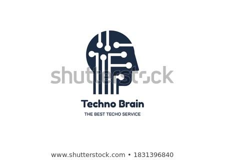 Techno beyin negatif uzay şirket Stok fotoğraf © barsrsind