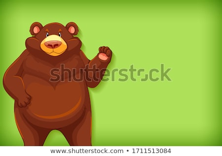 Background template design with plain color and grizzly bears Stock photo © bluering