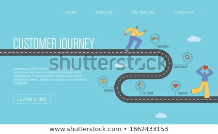 Cycling experiences concept landing page. Stock photo © RAStudio
