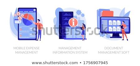 Személyes kiadások vezetőség vektor metaforák pénz Stock fotó © RAStudio