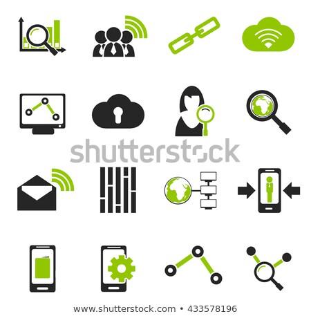 Données analytique simplement icônes symboles icônes web Photo stock © ayaxmr