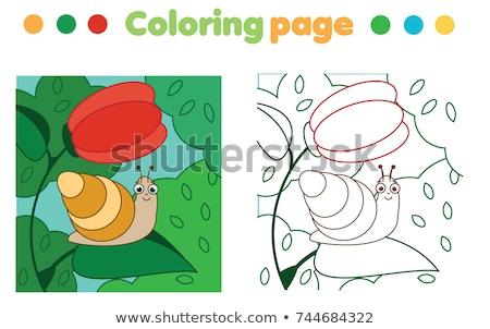 Oktatási puzzle játék gyerekek gyerekek tevékenység Stock fotó © natali_brill