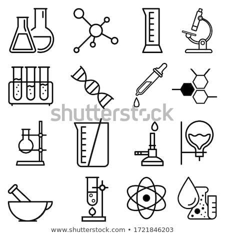 Kémia laboratórium cseppentő kémcső orvosi háttér Stock fotó © yupiramos