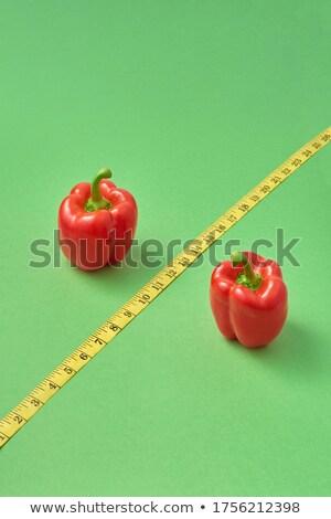 Pour cent signe rouge organique paprika poivre Photo stock © artjazz