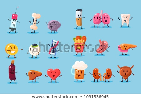 Liver Human Healthy And Unhealthy Organ Set Vector Stock photo © pikepicture