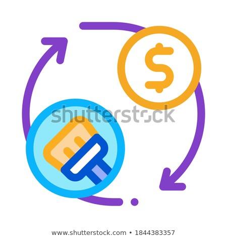 Czyszczenia cyklu ceny ikona wektora Zdjęcia stock © pikepicture