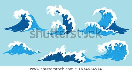 海景 サーフィン 波 明るい 空 白 ストックフォト © vapi